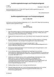 Ausführungsbestimmungen zum Presbyterwahlgesetz