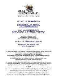16. / 17. / 18. september 2011 international art festival - KKWZ Villa ...