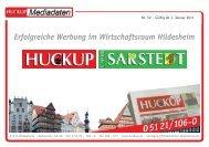 Erfolgreiche Werbung im Wirtschaftsraum Hildesheim - Der Huckup