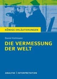 Textanalyse und Interpretation zu Daniel Kehlmann - Die Onleihe
