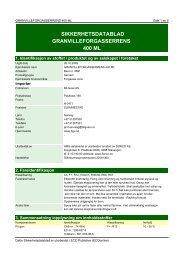 SIKKERHETSDATABLAD GRANVILLEFORGASSERRENS 400 ML