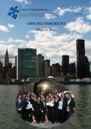 Abschlussbericht NMUN 2010 - Club of Hohenheim eV