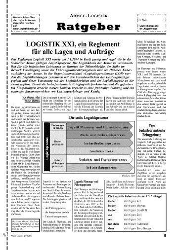 Ratgeber - Schweizerische Offiziersgesellschaft der Logistik