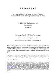 Nürnberger Fonds Selektion-Ausgewogen