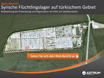 Syrische Flüchtlingslager auf türkischem Gebiet - Astrium GEO