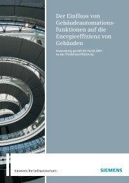 Der Einfluss von Gebäudeautomations- funktionen auf ... - Siemens