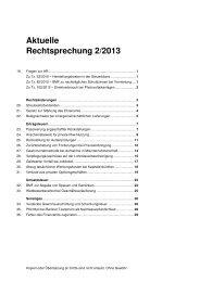Leseprobe Aktuelle Rechtsprechung 2-2013.pdf - Akademie Henssler