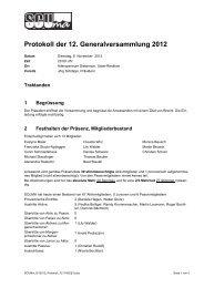 Protokoll der 12. Generalversammlung 2012