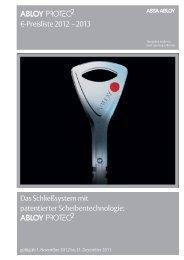 Preisliste 2012 – 2013 - Sicherheitstechnik Kataloge ...