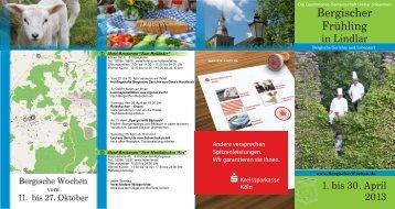 Unser Programm 2013 als PDF - Bergischen Wochen