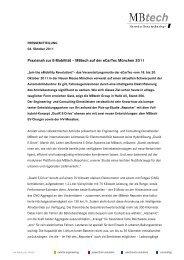Komplette Pressemitteilung zum Download - MBtech Group
