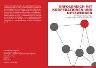 Buchfolder - Kooperation und Netzwerke