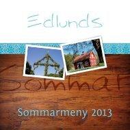 Die aktuelle Sommer Speisekarte - im Edlunds