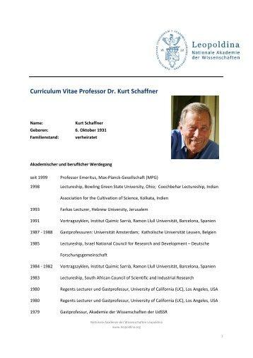 CV Kurt Schaffner - Deutsch (pdf) - Leopoldina