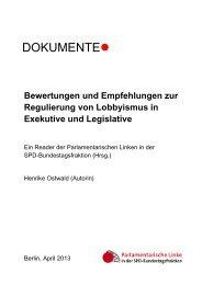 DOKUMENTE - Parlamentarische Linke