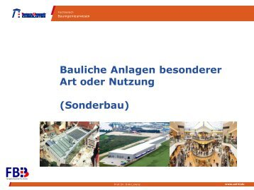 1. Gesetzliche Grundlagen - Fachbereich - Bauingenieurwesen
