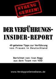 Der Verführungs-Insider-Report - Flirt-Tipps