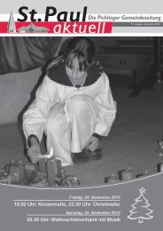 Ausgabe 47 / Dezember 2010 - St. Paul zu Pichling