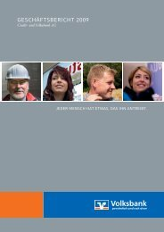 Geschäftsbericht 2009 - Volksbank