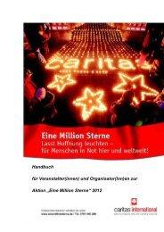 """en zur Aktion """"Eine Million Sterne"""" 2012 - Caritas international"""