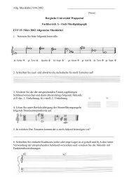 EFV-Info. Allgemeine Musiklehre (Probeklausur) - Musikpädagogik ...