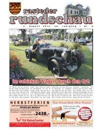 rasteder rundschau, Ausgabe August 2012