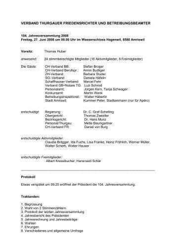 verband thurgauer friedensrichter und ... - Personal Thurgau