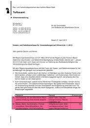 Kriterienkatalog für Gebühren- und Kostenerlasse - Tiefbauamt