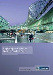 Lagerprogramm Edelstahl - ThyssenKrupp MetalServ