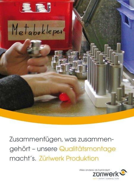 Flyer Produktion - Montage - Züriwerk
