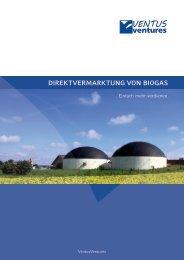 Direktvermarktung von Biogas - BIZZ energy today