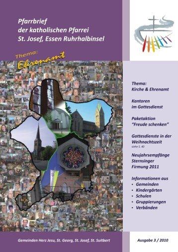 St. Josef, E Ruhrhalbinsel Pfarrbrief 3.2010 ohne ... - Bistum Essen