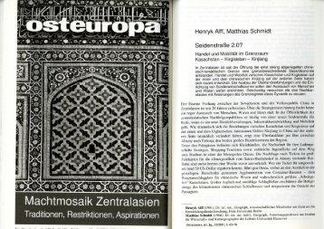 Henryk Alff, Matthias Schmidt - Crossroads Asia
