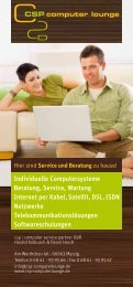 Individuelle Computersysteme Beratung, Service, Wartung Internet ...