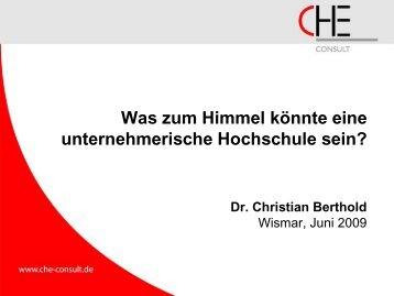 Dr. Christian Berthold - Robert-Schmidt-Institut