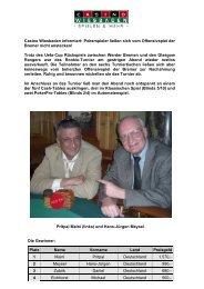 Donnerstagsturnier vom 13.03.2008 - Spielbank Wiesbaden