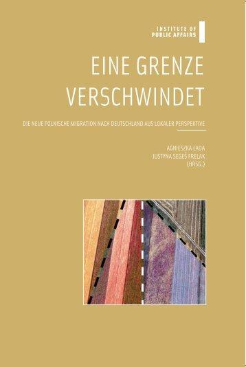 EINE GRENZE VERSCHWINDET - Stiftung für deutsch-polnische ...