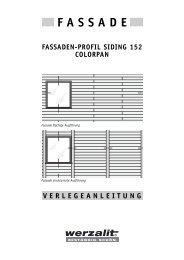 fassaden-profil siding 152 colorpan fassade