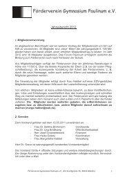 Jahresbericht 2012 - Gymnasium Paulinum
