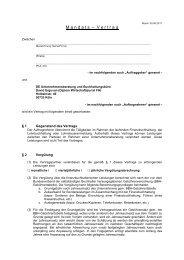 Mandantenvertrag Finanzbuchhaltung - Unternehmensberatung