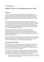 didaktische Aspekte von OER - Peter Baumgartner