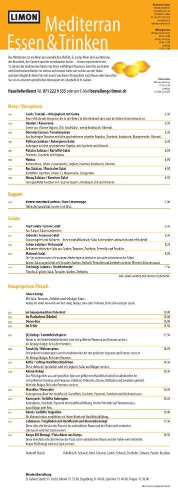 Mineral- und Süsswasser, Bier - Restaurant Limon