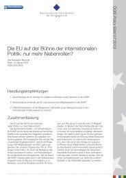 Die EU auf der Bühne der internationalen Politik - Österreichische ...