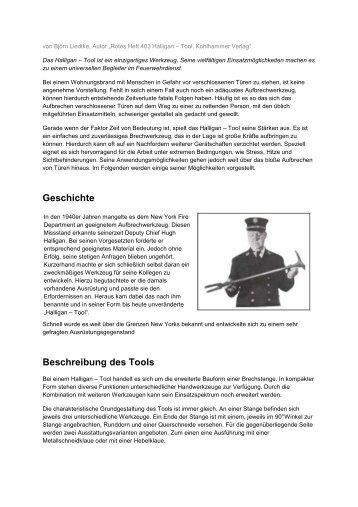 Halligan Tool Florian Hamburg - Freiwillige Feuerwehr Hamburg