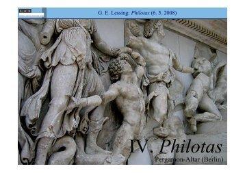 IV. Philotas - Literaturwissenschaft-online