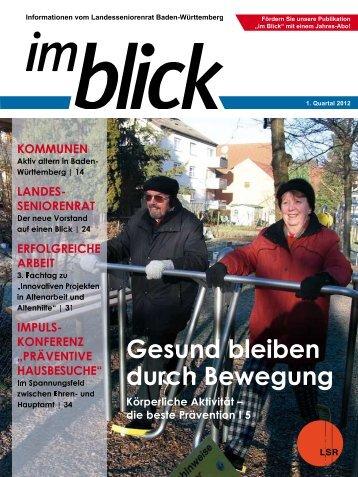 auf einen Blick - Der Landesseniorenrat Baden-Württemberg eV