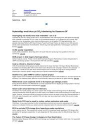 Nyhetsklipp med fokus på CO2-håndtering fra Gassnova SF - climit
