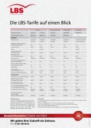 Die LBS-Tarife auf einen Blick - Sparkasse Emden