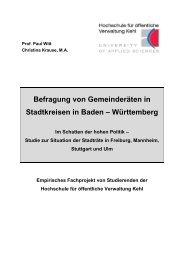 Württemberg - Hochschule Kehl