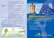Flyer zum gesamten Europafest - Region Mittelrhein